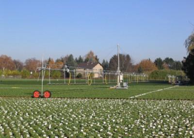 Outdoor irrigation cart